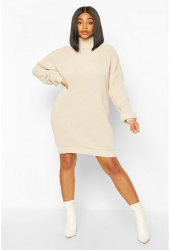 Stone Plus Roll Neck Jumper Dress