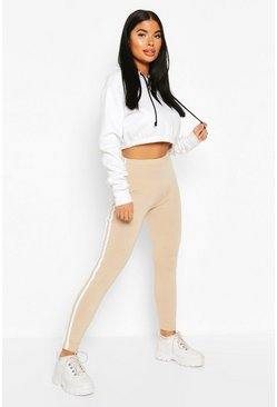 Stone Petite Side Stripe Tie Detail Leggings