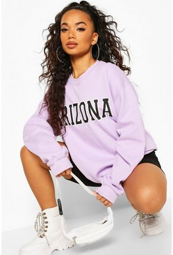 Sweat oversize « Arizona » Petite, Lilas