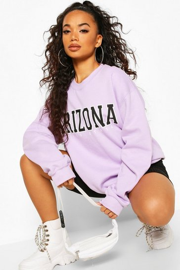 Lilac Petite 'Arizona' Oversized Sweat
