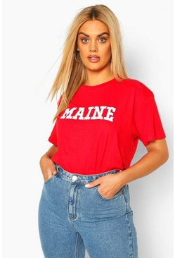 Red Plus Maine Short Sleeve T-Shirt