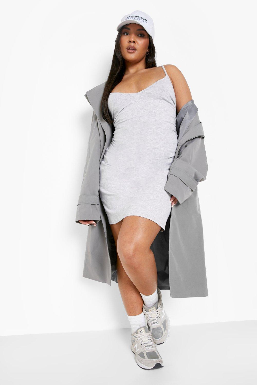Plus Strappy Basic Bodycon Dress 8