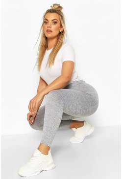 Grey Plus Marl High Waisted Legging