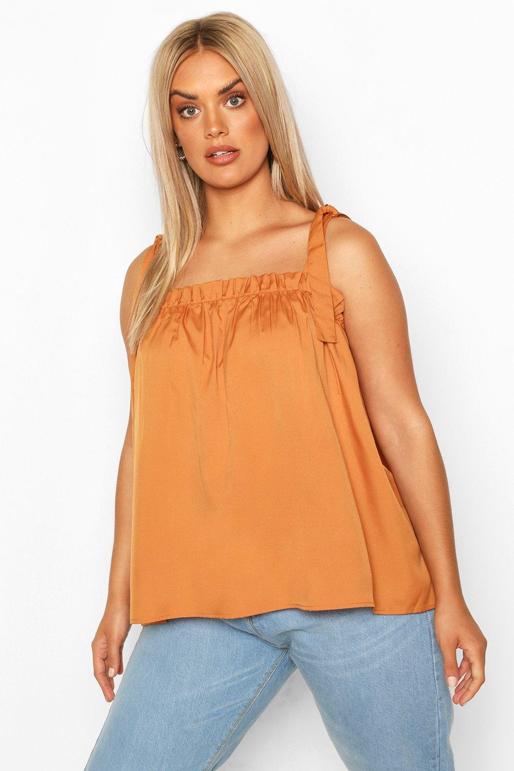 Plus Tie Shoulder Cami Top 8