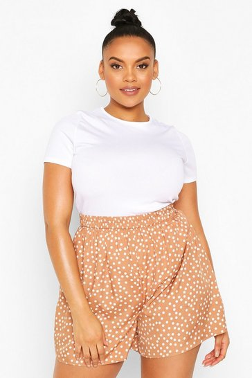 Mocha Plus Polka Dot Flippy Short
