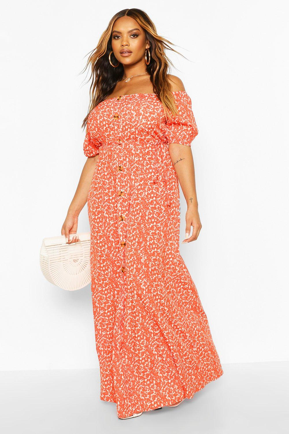 Plus Ditsy Floral Maxi Dress 8