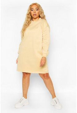 Stone Plus Oversized Sweat Dress