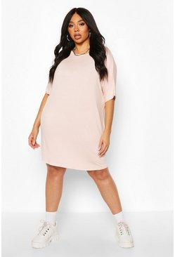Blush Plus Oversized T-Shirt Dress