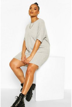 Grey Plus - Oversize t-shirtklänning