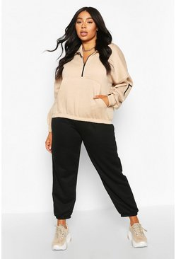 Plus - Sweat court oversize, Sable
