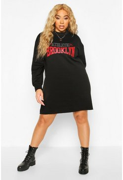 Black Plus Brooklyn Oversized Sweat Dress