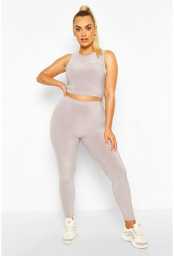 Light grey Plus Soft Touch Gym Legging