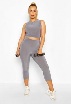 Dark grey Plus Soft Touch Gym Legging