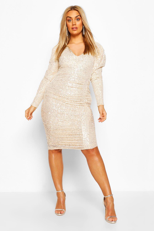70s Shorts | Denim, High Rise, Athletic Womens Plus Sequin Wrap romper - grey - 14 $24.00 AT vintagedancer.com
