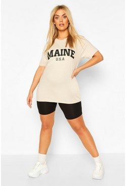 Stone Plus Maine Slogan T-shirt
