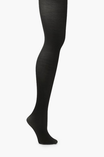 Black Plus 60 Denier Bum Tum & Thigh Tights