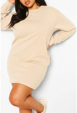 Sand Plus Oversized Basic Sweat Dress