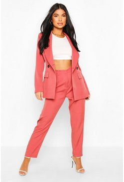 Mauve Petite Tailored Trousers