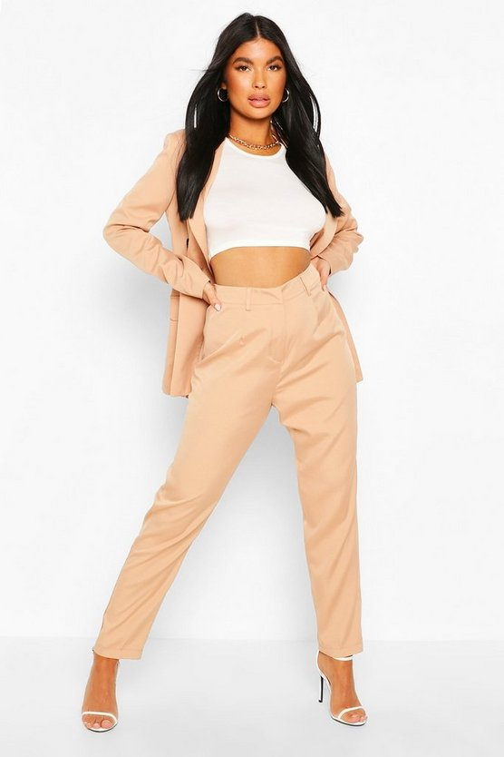 Stone Petite Tailored Pants