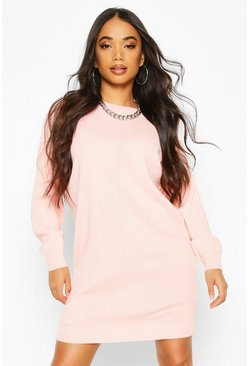Blush Petite Crew Neck Jumper Dress