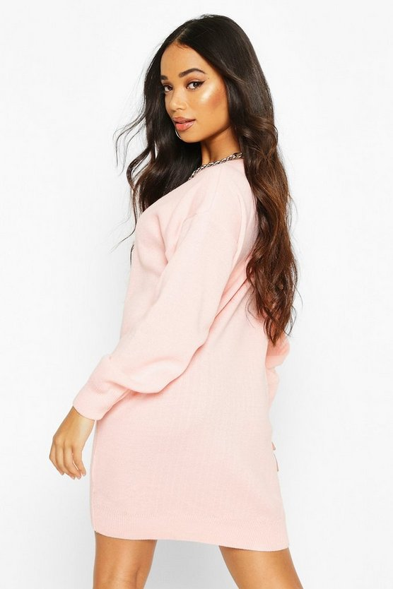 Petite Crew Neck Jumper Dress