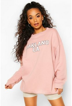 Petite Oakland Oversized Sweat, Pink