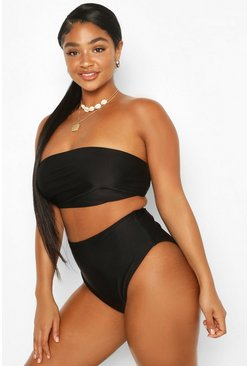 Black Plus Mix & Match High Waisted Bikini Brief