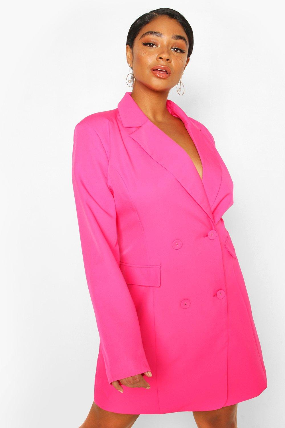 Plus Double Breasted Belted Blazer Dress 8