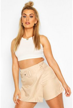 Stone Plus Self Belt Tailored Skort