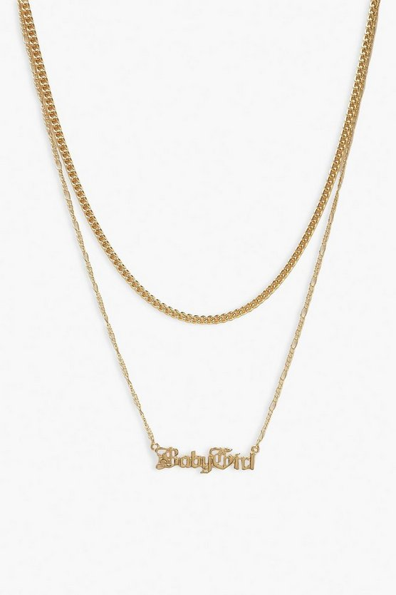 Gold Plus Baby Girl Chain Choker Necklace