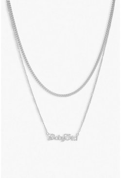 Silver Plus Baby Girl Chain Choker Necklace