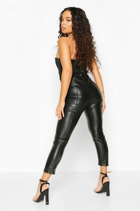 Petite Faux Leather Legging