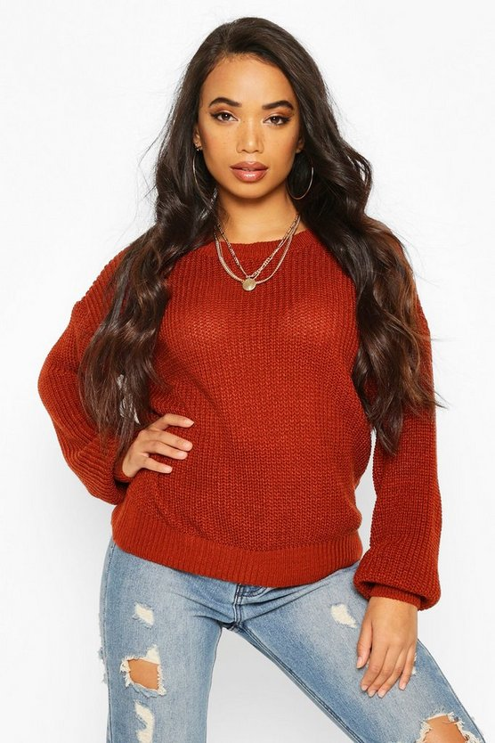 Toffee Petite Oversize Jumper