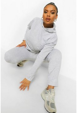 Grey Plus Hoody & Jogger Set
