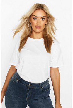 White Plus Basic Boxy Fit T-Shirt
