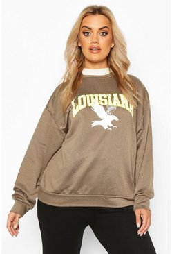 Khaki Plus Louisiana Oversized Sweat