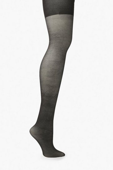 Black Plus 20 Denier Shaper Tights