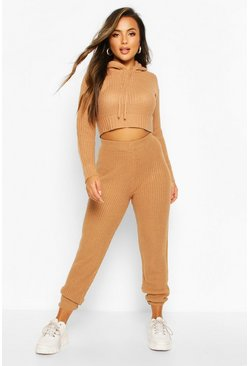 Toffee Petite Knitted Joggers