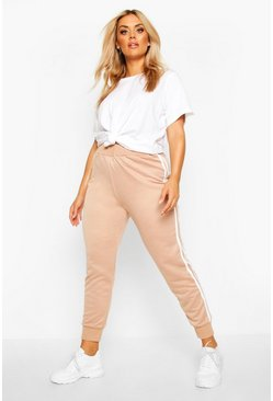 Stone Plus Side Stripe Jogger
