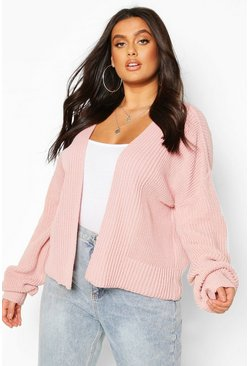 Blush Plus Cropped Cardigan