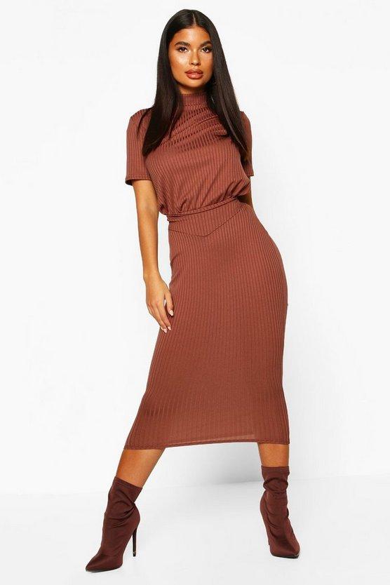 Petite Jumbo Rib Midaxi Skirt