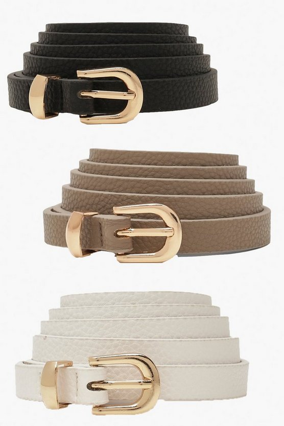 Plus Skinny Belts 3 Pack