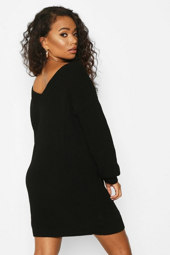 Petite V-Back Jumper Dress