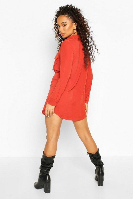 Petite Utility Pocket Shirt Dress