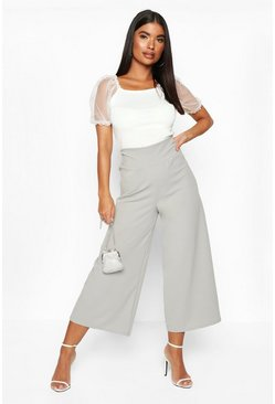 Womens Silver grey Petite Contour Waistband Culottes
