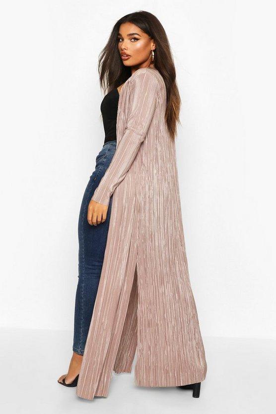 Plus Pleated Plisse Maxi Kimono