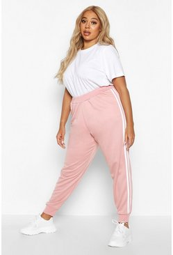 Womens Rose Plus Side Stripe Joggers