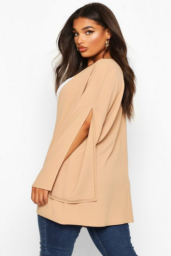 Plus Split Sleeve Kimono