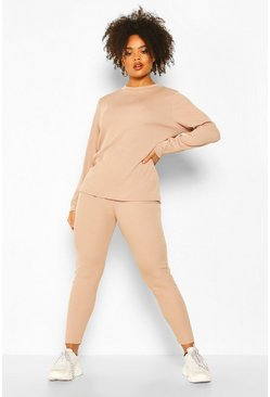 Stone Plus Rib Long Top + Legging Co-Ord