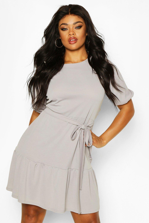 Women's 70s Shirts, Blouses, Hippie Tops Womens Plus Sequin Plunge Wrap one piece - grey - 22 $16.00 AT vintagedancer.com